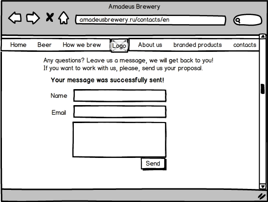 Amadeus Brewery Website Redesign | Ellina Morits